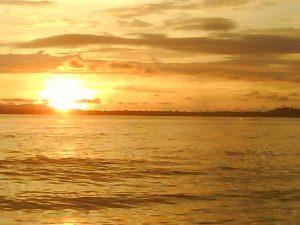 sunset in sibolga
